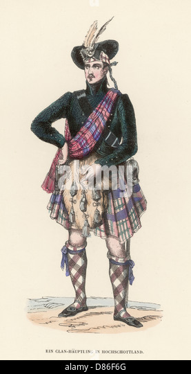 Scottish Highlander Warrior Drawing