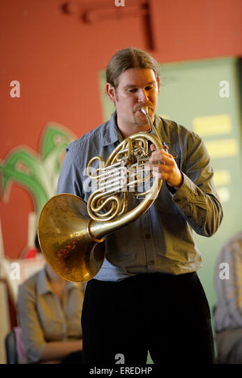 French Horn Player Stock Photos & French Horn Player Stock ...