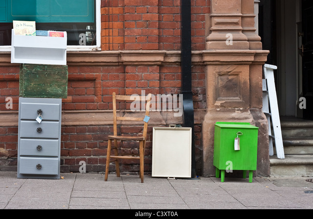 Second hand furniture for sale - Stock Image