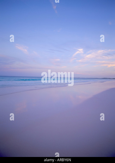 Sea And Sand At Sunset Pink Sands Beach Harbour Island Eleuthera The