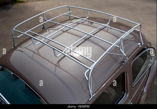 1954 VW Volkswagen Beetle Roof Rack   Stock Image