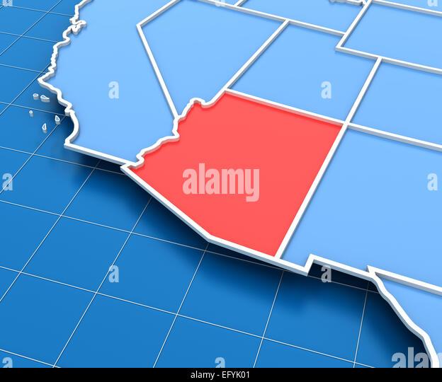 Arizona Map Stock Photos Arizona Map Stock Images Alamy - Arizona map usa