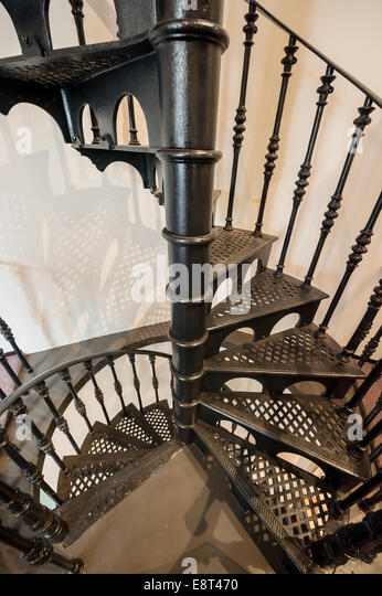 Charmant Classic Wrought Iron Spiral Staircase   Stock Image