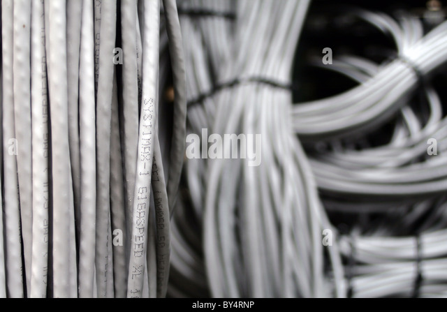 ethernet cables in a harness by4rnp wiring harness stock photos & wiring harness stock images alamy Wire Harness Assembly at readyjetset.co