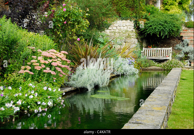 Garden rockery with pond stock photos garden rockery for English garden pool