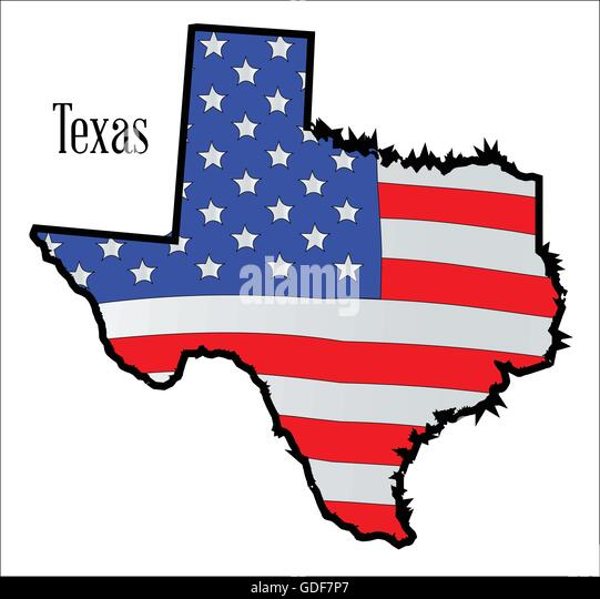 Stars And Stripes America Map Stock Vector Images Alamy