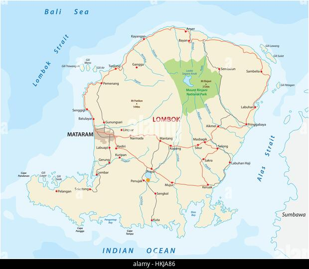 Road To Bali Stock Vector Images Alamy