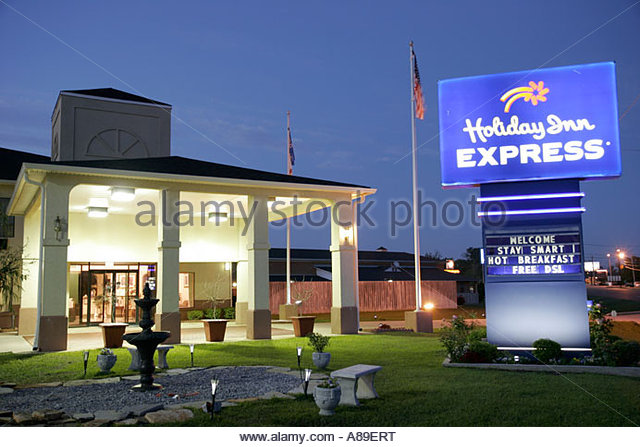 holiday inn express sign stock photos holiday inn. Black Bedroom Furniture Sets. Home Design Ideas