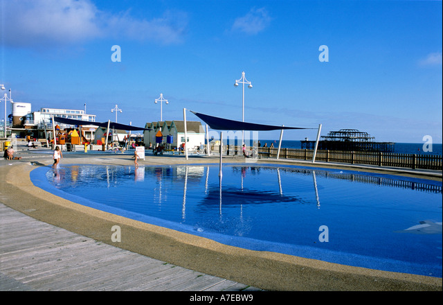 Paddling Pool Seafront Brighton Uk Stock Photos Paddling Pool Seafront Brighton Uk Stock