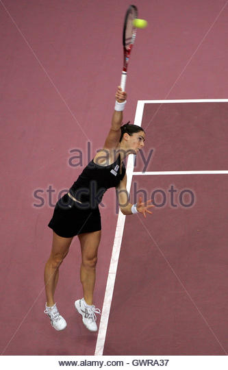 Dechy France  city pictures gallery : Nathalie Dechy of France serves during her match against Elena ...