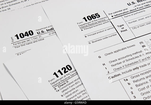 Tax form 1040 stock photos tax form 1040 stock images for 1040 tax table