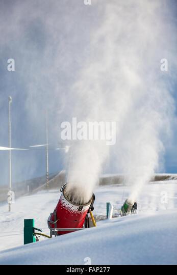 machine groomed snow