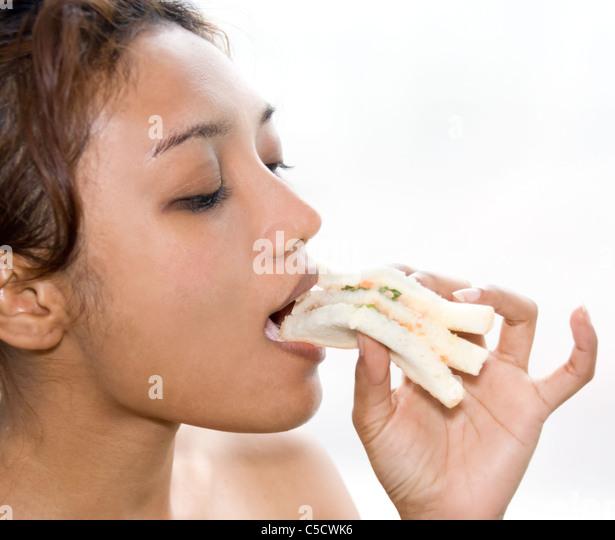 Bacon Sandwich Woman Stock Photos & Bacon Sandwich Woman