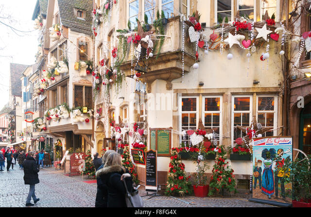 Decorations street stock photos decorations street stock for Rue du miroir strasbourg
