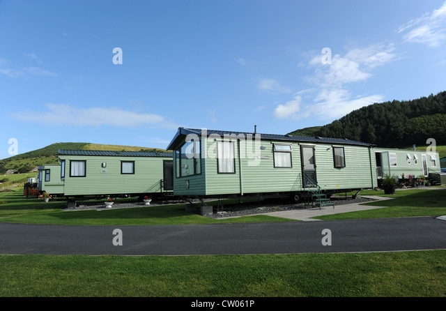 Mobile Holiday Home Park At Clarach Bay In Wales Uk