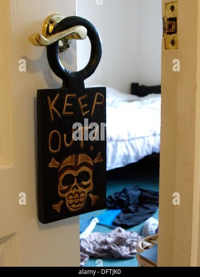 Keep Out Sign Door Stock Photos Keep Out Sign Door Stock