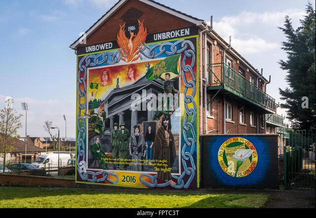 Gpo 1916 stock photos gpo 1916 stock images alamy for Easter rising mural