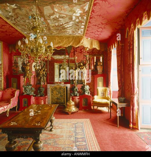 Victor Hugo Red Sitting Room Interior In Hauteville House Guernsey
