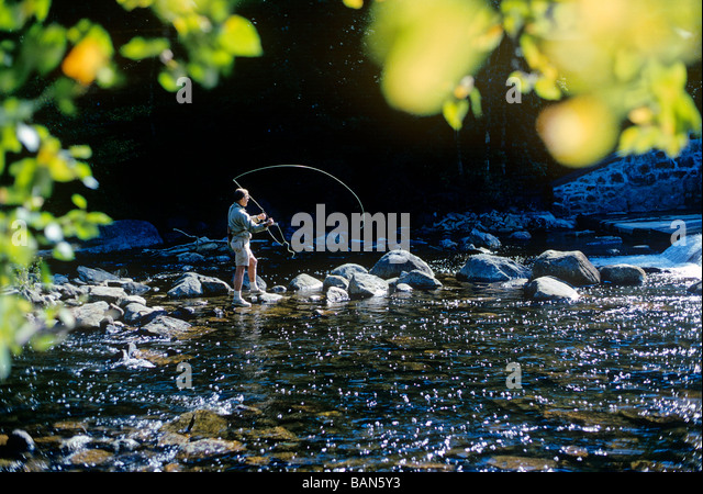 Fishingrod stock photos fishingrod stock images alamy for Fly fish usa