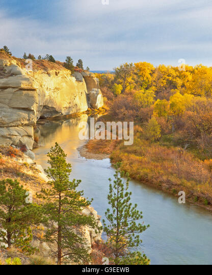 Fall colors along yellowstone river stock photos fall for Ajuba indian cuisine ashland va
