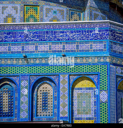 Mosaics Dome Of The Rock Stock Photos & Mosaics Dome Of ...