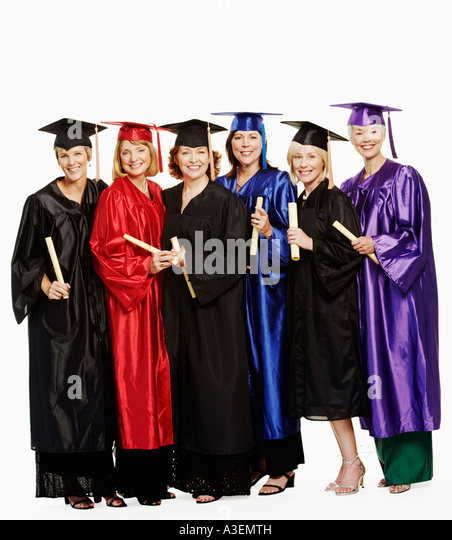 Mortar Board And Gown Cut Out Stock Photos & Mortar Board And Gown ...