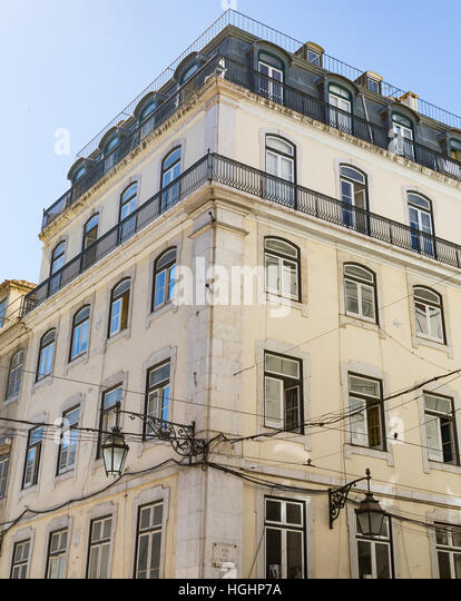 Old Apartment Building In Lisbon Portugal   Stock Image Part 82