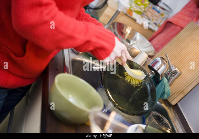 Woman Washing Up Model Released Stock Photos & Woman  ~ Geschirr Spülen