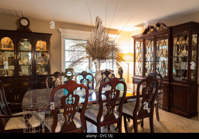 Showcase Dining Room Interior, USA   Stock Image