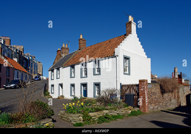 Scottish white house stock photos scottish white house stock images alamy - Household water treatment a traditional approach ...