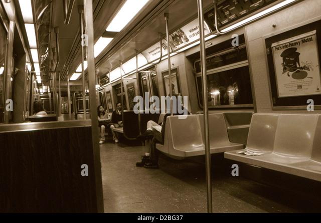 new york subway car stock photos new york subway car stock images alamy. Black Bedroom Furniture Sets. Home Design Ideas