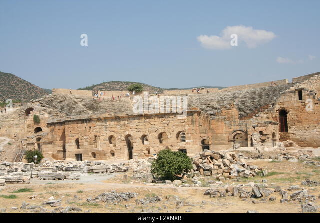 Hierapolis Turkey Ruins Ancient City Stock Photos & Hierapolis Turkey Rui...