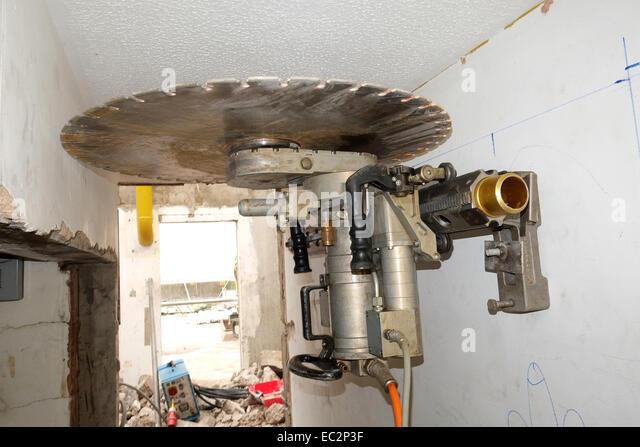 Air Wall Sawing : Cutting through the air stock photos