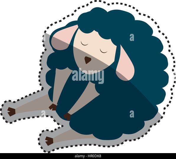 Sleeping sheep cartoon