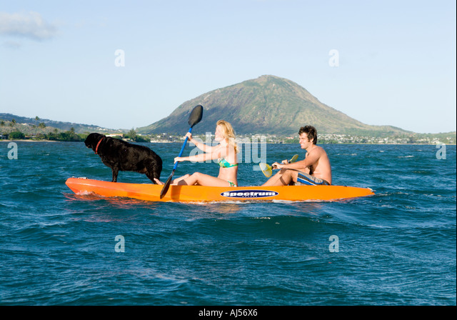 Young Adult Couple Kayak On Stock Photos Amp Young Adult