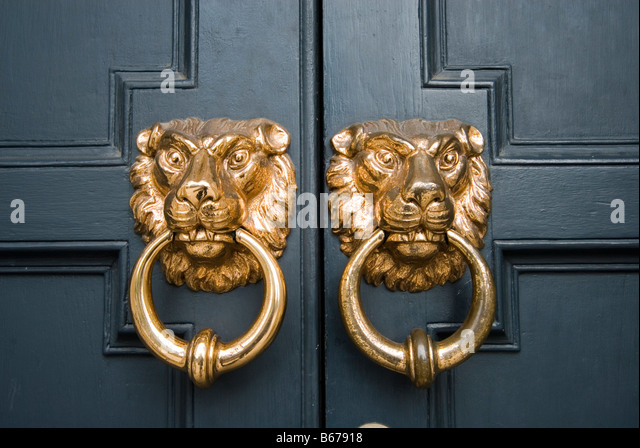 Ornate Door Knocker, Dublin, Europe   Stock Image