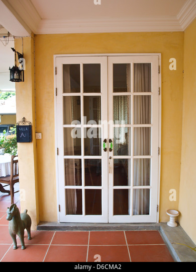 Two french doors stock photos two french doors stock for White double french doors