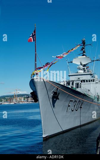 f304 narvik an oslo class frigate stock image