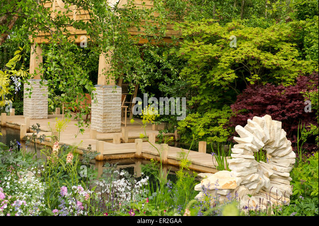 the mg garden 2015 the retreat designed by jo thompson and winner of a gold - Brick Garden 2015