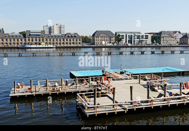 Floating deck stock photos floating deck stock images for Floating swimming pool paris