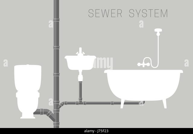 Sewerage system stock photos sewerage system stock for Sewage piping system