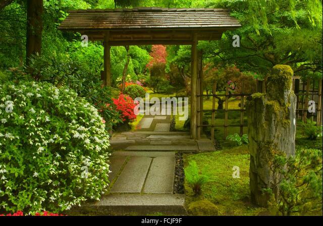 Tea Garden Path Portland Japanese Stock Photos Tea Garden Path Portland Japanese Stock Images