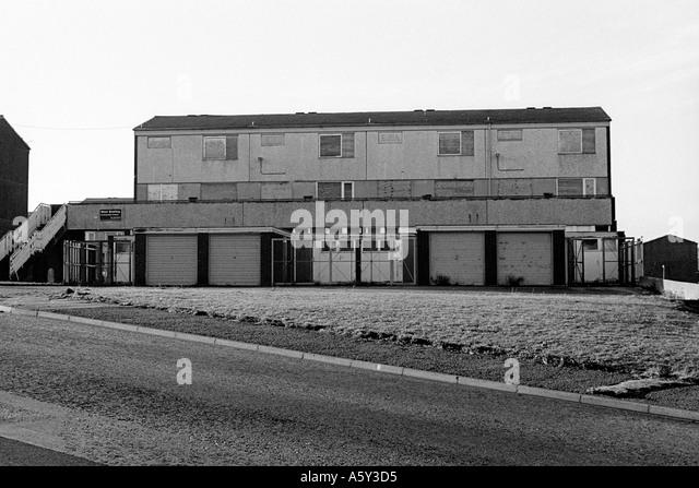 Rundown Building Decay Stock Photos Rundown: Ruin Derelict Decay Urban Uk Council Maisonette