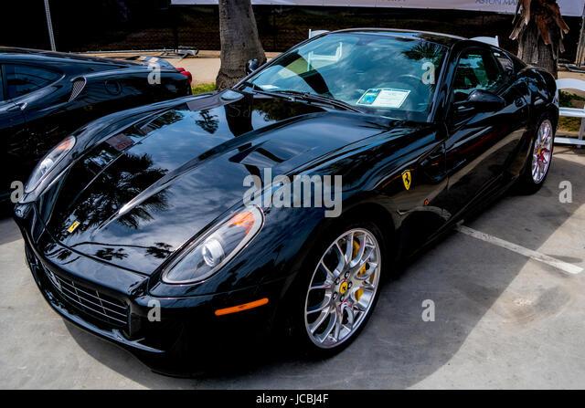 2008 Black Ferrari 599 GTB Fiorano Coupe At The La Jolla Concourse  Du0027Elegance Car