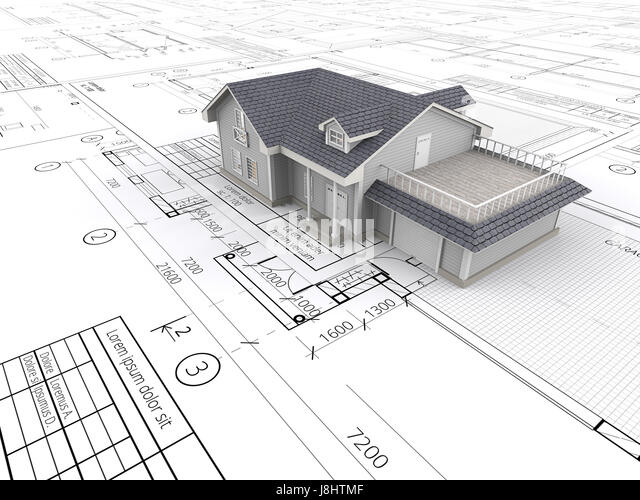 Architecture Blueprints 3d blueprints 3d stock photos & blueprints 3d stock images - alamy