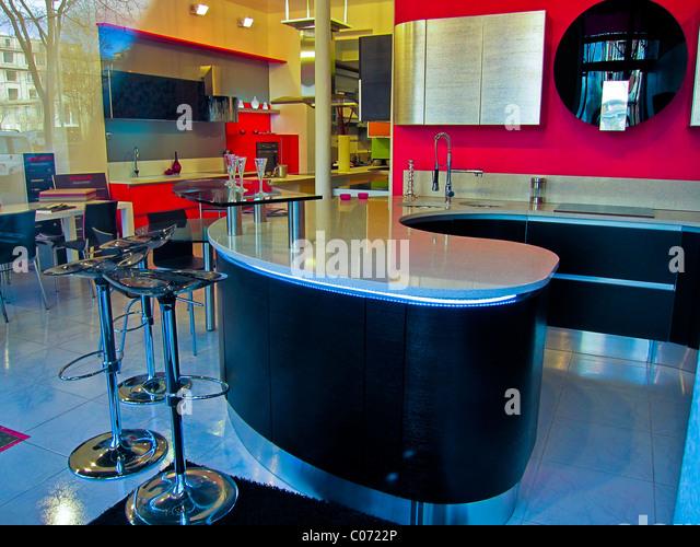 Commercial kitchen design stock photos commercial for Inside l interieur