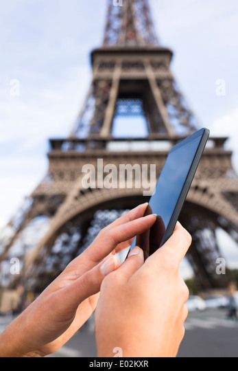hand and eiffel tower stock photos hand and eiffel tower stock images alamy. Black Bedroom Furniture Sets. Home Design Ideas