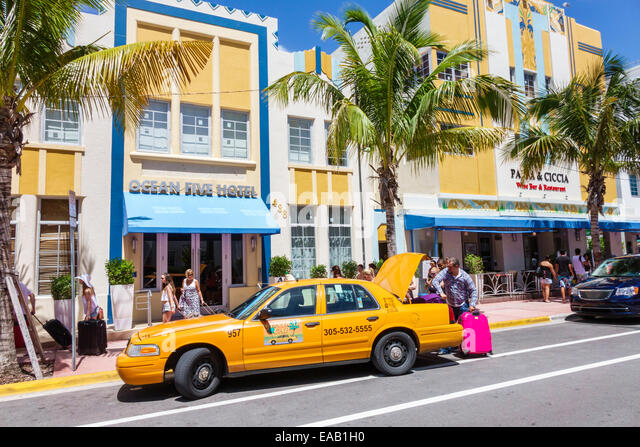 Miami Beach Yellow Taxi