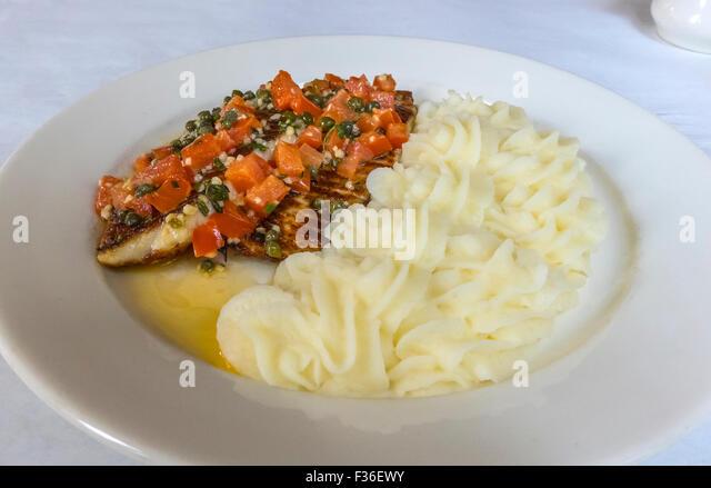 Broiled Tilapia With Tomato Caper Sauce Recipe — Dishmaps
