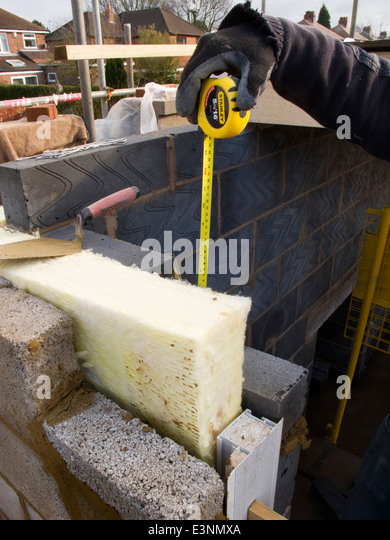 Cavity wall construction stock photos cavity wall Insulated block construction